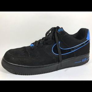 Nike Air Force 1 Black & Blue Suede Sz 15 EU 49.5
